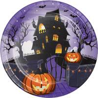 Creative Converting 8 ct Haunted House Dinner Plate from Blain's Farm and Fleet