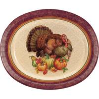 Creative Converting Thanksgiving Turkey Oval Platter 8 ct from Blain's Farm and Fleet