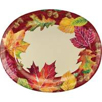 Creative Converting Fallen Leaves Oval Platter 8 ct from Blain's Farm and Fleet