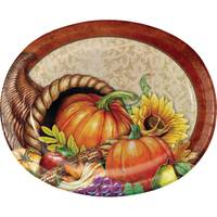 Creative Converting Bountiful Thanksgiving Oval Platter 8 ct from Blain's Farm and Fleet