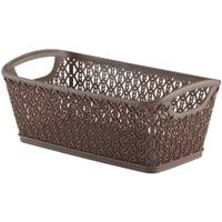 Whitmor Small Link Stitch Iron Resin Form Shelf Tote from Blain's Farm and Fleet