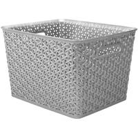 Whitmor Silver Resin Form Large Tote from Blain's Farm and Fleet