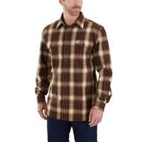 Carhartt Men's Hubbard Plaid Long Sleeve Shirt Sequoia from Blain's Farm and Fleet