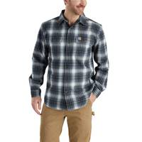 Carhartt Big & Tall Men's Dark Blue Hubbard Plaid Shirt from Blain's Farm and Fleet