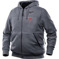 Milwaukee Men's M12 Gray Hooded Heated Sweatshirt from Blain's Farm and Fleet