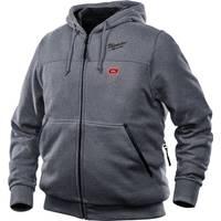 Milwaukee Men's M12 Gray Hooded Heated Sweatshirt from Blain's Farm and Fleet