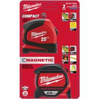 Milwaukee 25 ft Magnetic & Compact Tape 2-Pack from Blain's Farm and Fleet