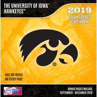 Lang Iowa Hawkeyes 2019 Box Calendar from Blain's Farm and Fleet