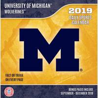 Lang Michigan Wolverines 2019 Box Calendar from Blain's Farm and Fleet