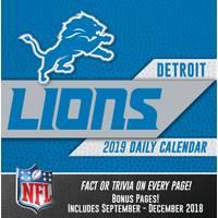 Lang Detroit Lions 2019 Box Calendar from Blain's Farm and Fleet