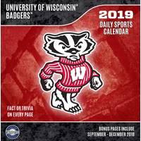Lang Wisconsin Badgers 2019 Box Calendar from Blain's Farm and Fleet