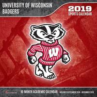 Lang Wisconsin Badgers 2019 Mini Wall from Blain's Farm and Fleet