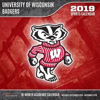 Lang Wisconsin Badgers 2019 12x12 Wall Calendar from Blain's Farm and Fleet