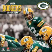 Lang Green Bay Packers Aaron Rodgers 2019 12x12 Wall Calendar from Blain's Farm and Fleet