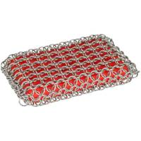 Lodge Red Chainmail Scrubbing Pad from Blain's Farm and Fleet