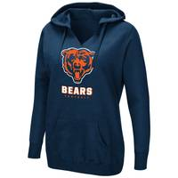 Fanatics Misses' Chicago Bears Shape Up Split Neck Hood Navy from Blain's Farm and Fleet
