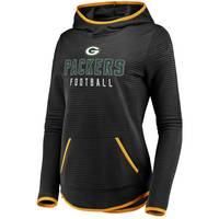 Fanatics Misses' Green Bay Packers Linear Hood Black & Gold from Blain's Farm and Fleet