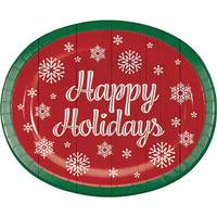 Creative Converting 8-Count Nostalgic Santa Oval Platter from Blain's Farm and Fleet