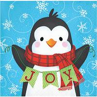Creative Converting 16-Count Snowman Penguin Beverage Napkin from Blain's Farm and Fleet