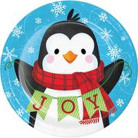 Creative Converting 8 Count Snowman Penguin Luncheon Plates from Blain's Farm and Fleet