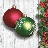 Creative Converting 16-Count Christmas Ornaments Beverage Napkin from Blain's Farm and Fleet
