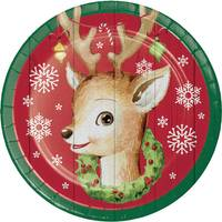 Creative Converting 8 Count Nostalgic Santa Luncheon Plates from Blain's Farm and Fleet