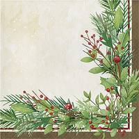 Creative Converting 16-Count Winter Wreath Lunch Napkin from Blain's Farm and Fleet
