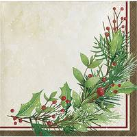 Creative Converting 16-Count Winter Wreath Beverage Napkin from Blain's Farm and Fleet