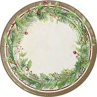 Creative Converting 8-Count Winter Wreath Dinner Plate from Blain's Farm and Fleet