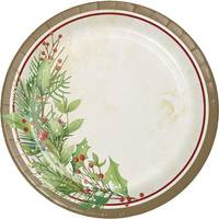 Creative Converting 8 Count Winter Wreath Luncheon Plates from Blain's Farm and Fleet