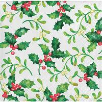 Creative Converting 16-Count Holly Berries Beverage Napkin from Blain's Farm and Fleet