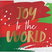 Creative Converting 16 Count Joy to the World Foil Bev Napkins from Blain's Farm and Fleet