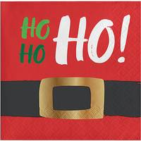 Creative Converting 16-Count HoHoHo Beverage Foil Napkin from Blain's Farm and Fleet