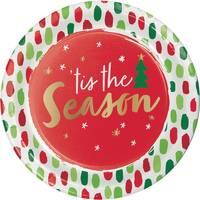 Creative Converting 8 Count Tis the Season Foil Luncheon Plates from Blain's Farm and Fleet