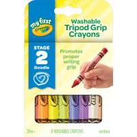 Crayola 8 Count My First Washable Triangle Crayons from Blain's Farm and Fleet
