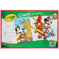 Crayola Mickey Mouse Giant Coloring Pages from Blain's Farm and Fleet