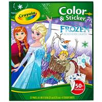 Crayola Frozen Color & Sticker Book from Blain's Farm and Fleet