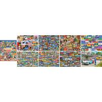 White Mountain Puzzles 1000-Piece Roadside America Puzzle Assortment from Blain's Farm and Fleet