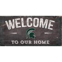 All Star Sports Michigan State Spartans Welcome Distressed Sign from Blain's Farm and Fleet