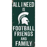 All Star Sports Michigan State Spartans Football, Friends Family Sign from Blain's Farm and Fleet