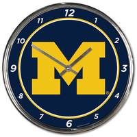 All Star Sports Michigan Wolverines Chrome Clock from Blain's Farm and Fleet