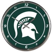 All Star Sports Michigan State Spartans Chrome Clock from Blain's Farm and Fleet