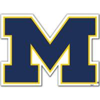 All Star Sports University of Michigan Wolverines Block S Vinyl Car Magnet from Blain's Farm and Fleet