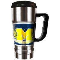 All Star Sports University of Michigan Wolverines 20 oz Champ Travel Mug from Blain's Farm and Fleet