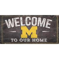 All Star Sports University of Michigan Wolverines Welcome Distressed Sign from Blain's Farm and Fleet
