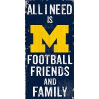 All Star Sports University of Michigan Wolverines Football, Friends & Family Sign from Blain's Farm and Fleet