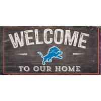 All Star Sports Detroit Lions Welcome Distressed Sign from Blain's Farm and Fleet