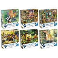 KI Puzzle 1000-Piece Linda Picken Puzzles Assortment from Blain's Farm and Fleet