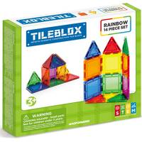 Magformers 14-Piece Tile Blox Rainbow Set from Blain's Farm and Fleet
