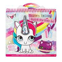 Fashion Angels Unicorn Fantasy Shaker Portfolio Book from Blain's Farm and Fleet